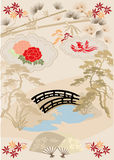 Japanese design elements I Royalty Free Stock Image