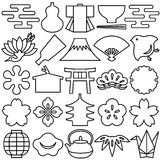 Japanese design icons. Royalty Free Stock Photo