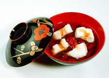 Red beans in syrup the Japanese dessert isolated  Royalty Free Stock Photos