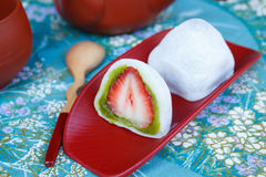 Japanese dessert , mochi Royalty Free Stock Photography