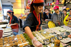 Japanese dessert shop in Jiufen vintage market Stock Photography