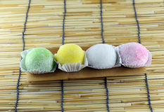 Japanese desserts made of sticky rice. Royalty Free Stock Photos