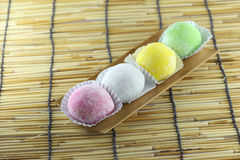 Japanese desserts made of sticky rice. Stock Images