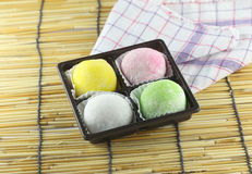 Japanese desserts made of sticky rice. Royalty Free Stock Image
