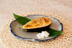 Japanese dishes - Baked Eggplant with Cheese Royalty Free Stock Images