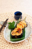 Japanese dishes - Baked Eggplant with Cheese Royalty Free Stock Image