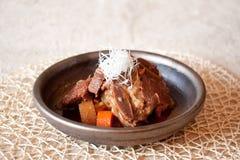 Japanese dishes - Braised Japanese Spare Rib. Braised Spare Rib in Japanese style Stock Photography
