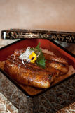 Japanese dishes - Char-grilled Whole Eel Rice Royalty Free Stock Photography