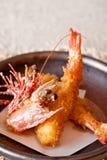 Japanese dishes - Fried Giant Shrimp. A set of nice presentation of close-up fried giant shrimp Stock Photo