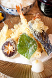 Japanese dishes - Prawn Tempura Stock Images