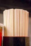 Japanese disposable bamboo chopsticks Stock Photos