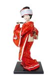 Japanese Doll. Ware traditional kimono clothes stock photo
