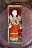 Japanese doll. Japanese old doll in cover box Stock Photo