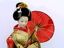 Japanese doll. Traditional Japanese doll in kimono