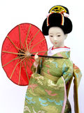 Japanese Doll. Traditional japanese doll in Kimono Royalty Free Stock Images