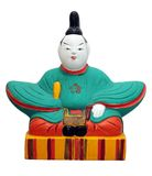 Japanese doll. Traditional Japanese doll on isolated background Royalty Free Stock Images
