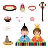 Japanese Doll Festival. Vector illustration.Original paintings and drawing Royalty Free Stock Images