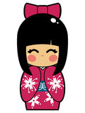 Japanese Doll Vector EPS Royalty Free Stock Photo