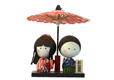 Japanese dolls Royalty Free Stock Photography