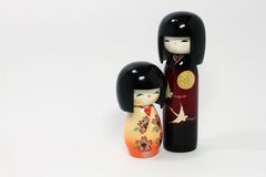 Japanese dolls (boy and girl) Royalty Free Stock Images