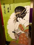 Japanese Door Flaps Royalty Free Stock Photos