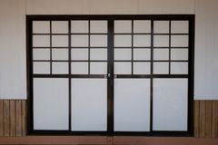 Japanese door , design a pattern background . royalty free stock photo