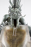 Japanese dragon fountain. Japanese fountain at the temple, Kobe Royalty Free Stock Photo