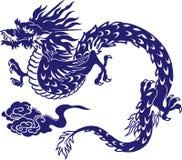 Japanese dragon. I designed an Oriental dragon Royalty Free Stock Photos