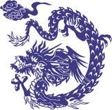 Japanese dragon. I designed an Oriental dragon Stock Image