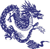 Japanese dragon. I designed an Oriental dragon Stock Photos