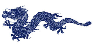 Japanese dragon. I designed an Oriental dragon Stock Photo