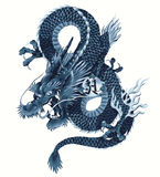 Japanese dragon. I got a dragon and described it in Japanese tradition technique Royalty Free Stock Photos