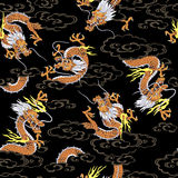Japanese dragon pattern Royalty Free Stock Photos