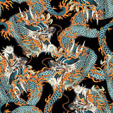 Japanese dragon pattern Stock Photography