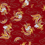 Japanese dragon pattern Stock Photos