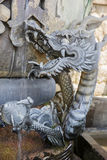 Japanese dragon sculpture Stock Images