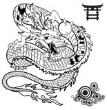 Japanese dragon tattoo set2 Stock Photography