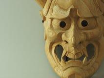 Japanese drama mask NOH Stock Image
