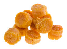 Japanese dried scallop on background Stock Image