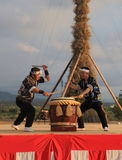 Japanese drum show summer festival Japan Royalty Free Stock Photo
