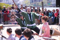 Japanese drummers Royalty Free Stock Photography