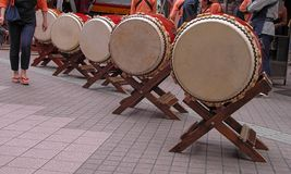 Japanese drums arrangement Stock Images