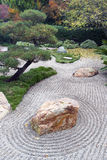 Japanese Dry Landscape Garden. An example of karesansui or Japanese dry landscape gardening Stock Photography