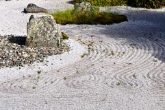 Japanese dry rock garden Royalty Free Stock Image