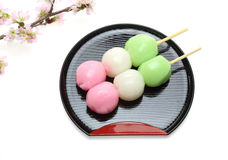 Japanese dumpling with cherry blossom Stock Photography