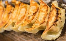 Japanese dumplings Royalty Free Stock Photo