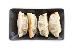 Japanese Dumplings with white background Royalty Free Stock Photos