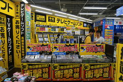 Japanese Electronics Shop. This photo was taken in Akihabara (Tokyo), Japan in August 2014 with a Canon 6D Stock Images