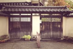 Japanese entrance house Stock Images