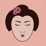 Japanese face Royalty Free Stock Photography